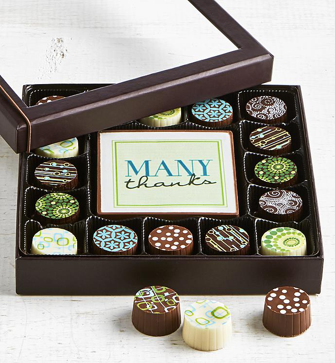 Simply Chocolate Thank You Bar & Truffles 17 pc