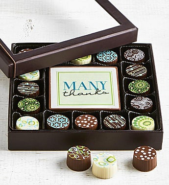 Simply Chocolate Thank You Bar & Truffles
