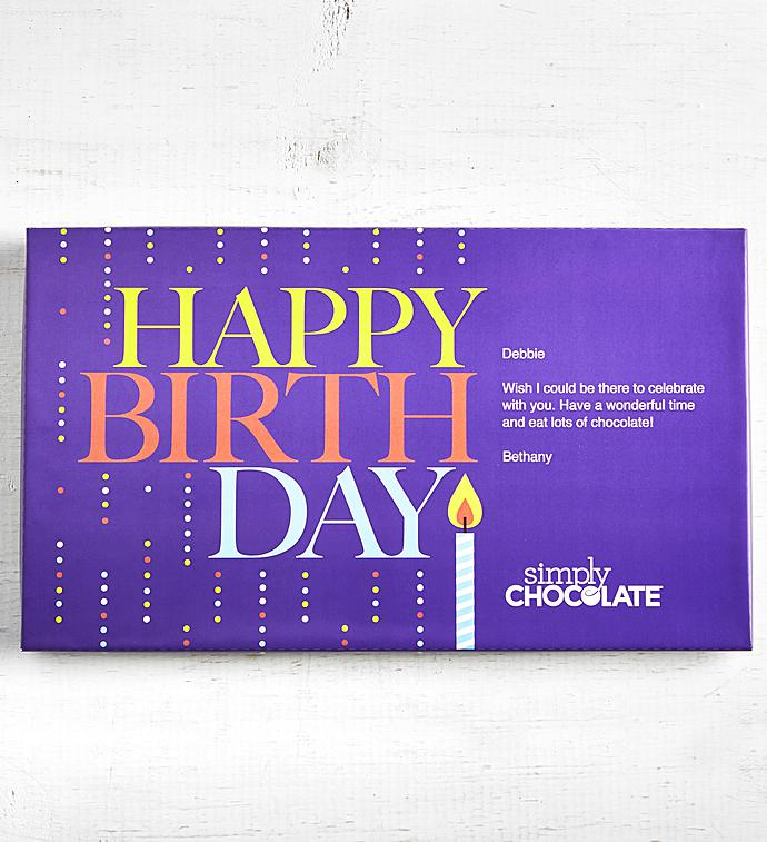 Simply Chocolate Happy Birthday Personalized Box