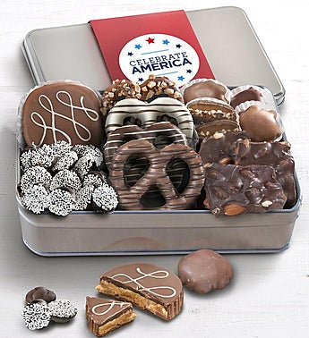 Simply Chocolate Celebrate America Confections Tin