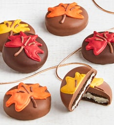 The Sweet Shop 12pc Fall Leaf OREO cookies