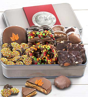 Simply Chocolate Festive Fall Confections Tin