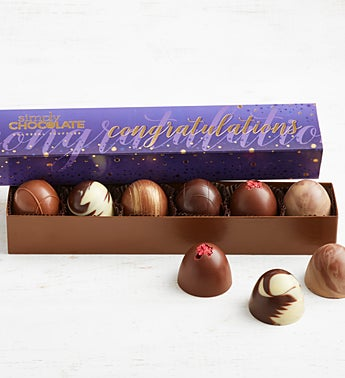 Simply Chocolate Congrats! Colossal Truffles 6pc