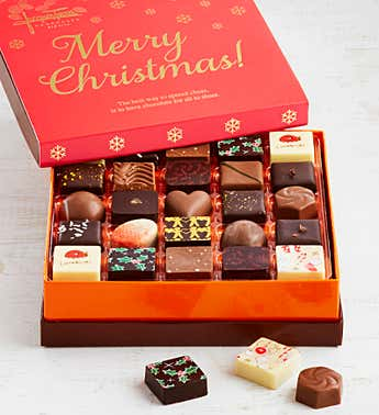 Jacques Torres Christmas Chocolates Box 25pc