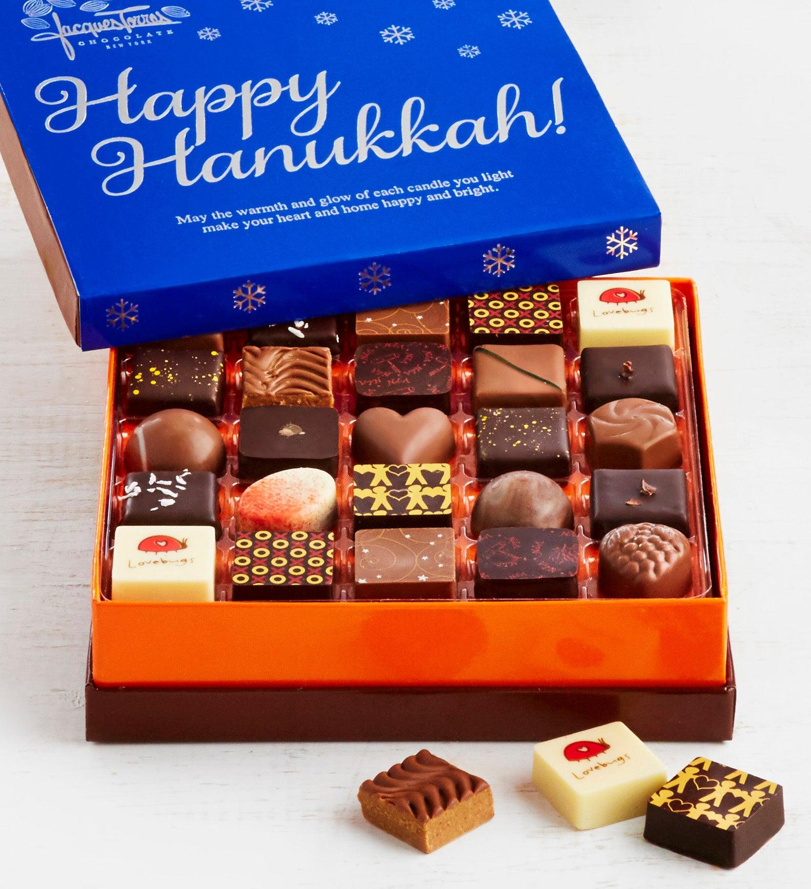 Jacques Torres Hanukkah Chocolates Box 25pc