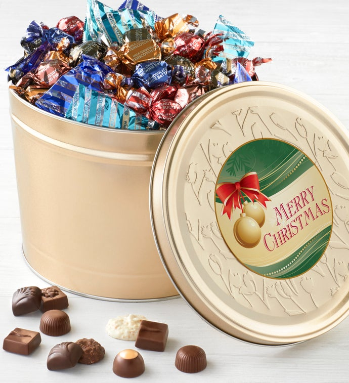 Harry London 5LB Chocolate Christmas Tin