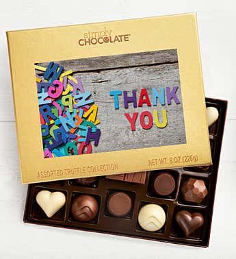 Thank You Letters 19pc Chocolate Box