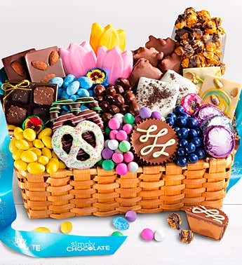 Simply Chocolate Celebrate Spring Gift Basket